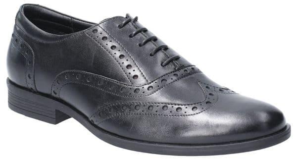 Hush Puppies Oaken Brogue Lace Mens Shoes Black